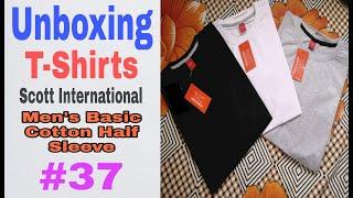 Unboxing Scott International Men 39 s Basic Cotton Round Neck Half Sleeve Solid T-Shirts Amazon 37