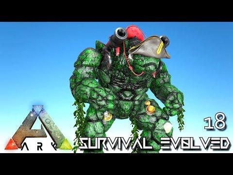 ARK: SURVIVAL EVOLVED - CAPTIN BLACK BOULDER ROCK GOLEM BOSS !!! | PRIMAL FEAR ISO CRYSTAL ISLES E18