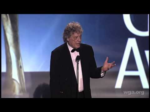 Tom Stoppard accepts the 2013 Writers Guild West Screen Laurel Award