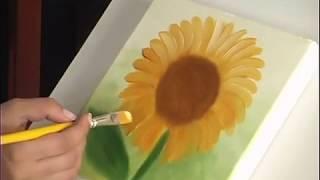 Pinturas Florais - Girassol - Pintura a óleo