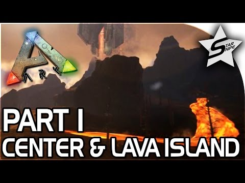 LAVA ISLAND, THE CENTER!! - ARK Survival Evolved PS4 PRO Gameplay Part 1