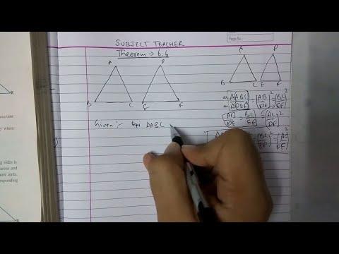 Triangles theorem 6.6 class 10 maths NCERT