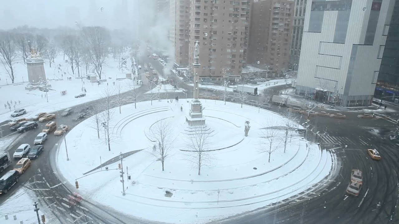 Behind the Scenes: Snow Falling on Columbus Circle