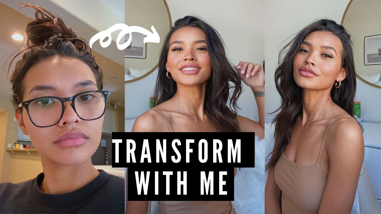 TRANSFORM WITH ME QUICKLY- SKIN, MAKEUP, HAIR + OUTFIT || NICOLE ELISE