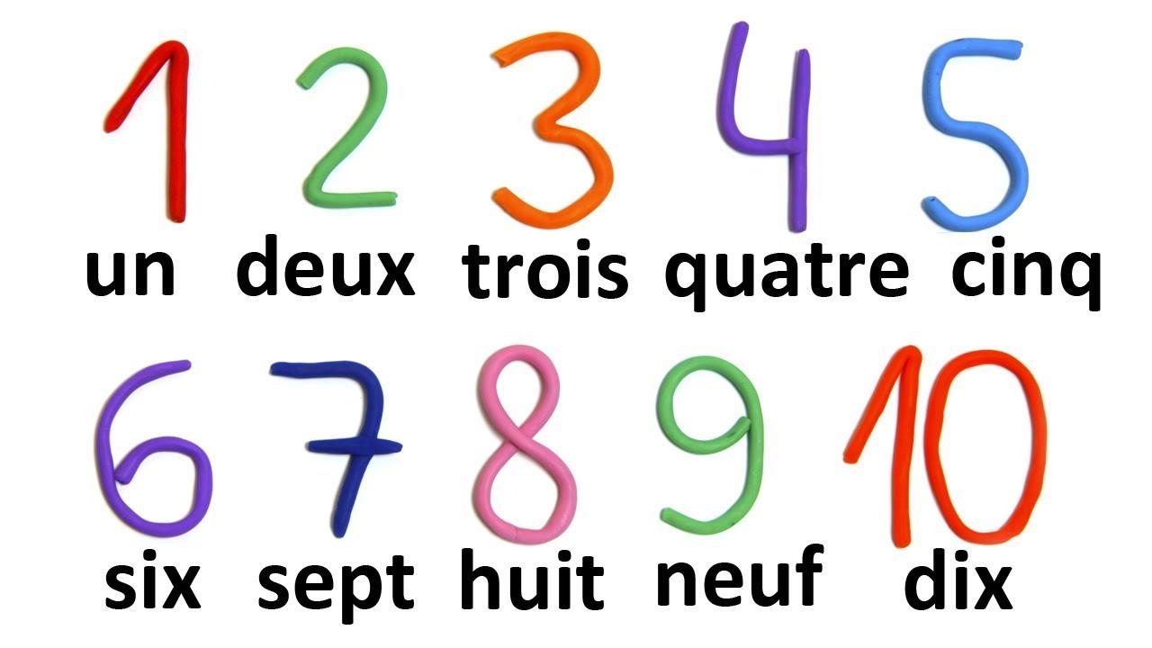 Счет по-французски картинки