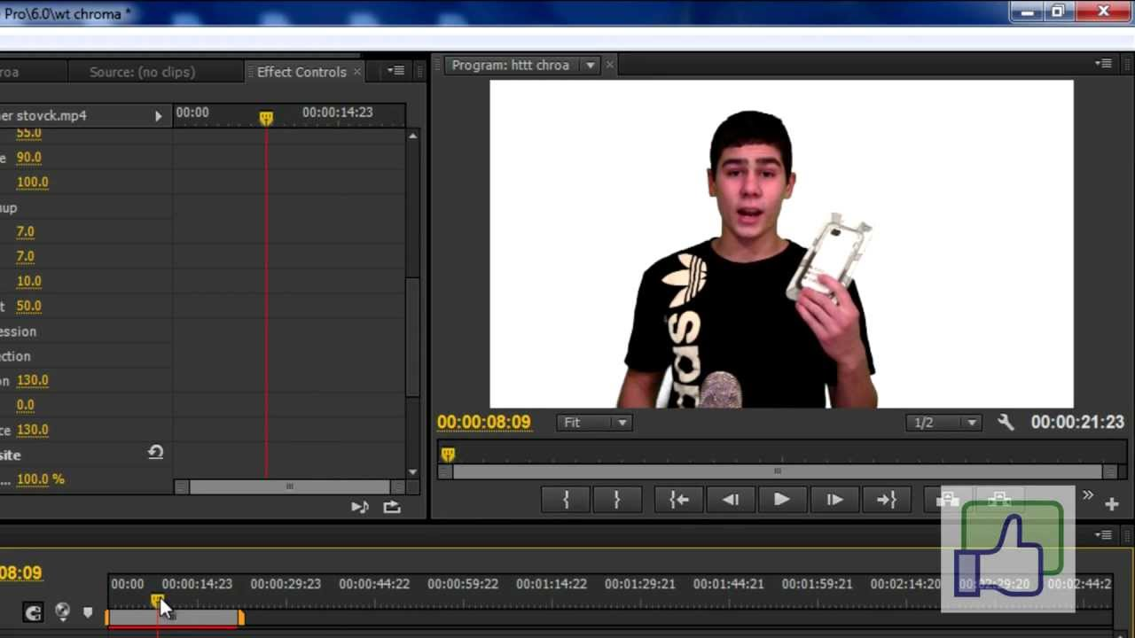 Keying out background in premiere pro