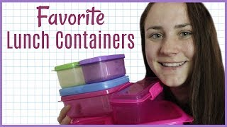 FAVORITE FOOD CONTAINERS FOR SCHOOL LUNCH | Allie Young