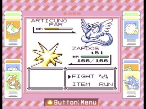 Pokémon Red : Catching Articuno With Electabuzz and Zapdos!
