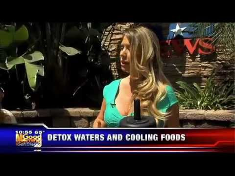 "Andrea Cox making her famous ""Detox Water"" on KUSI San Diego morning news!"