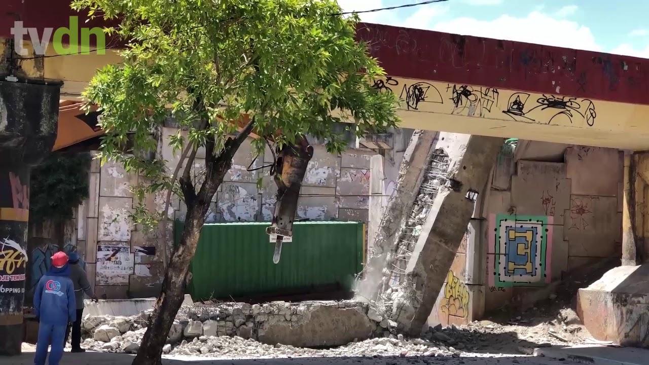 Viga de viaduto do VLT cai durante obra e interdita via no Dionísio Torres