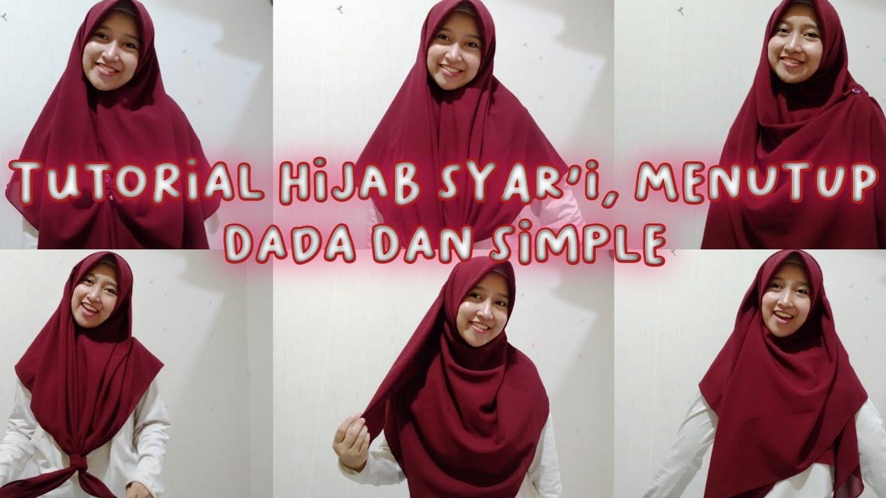 Tutorial Hijab Segi Empat Bentuk Pita - Ide Hijab Syari