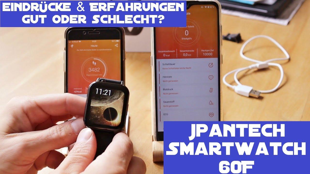 jpantech Smartwatch 60F - Meine Eindrücke und Erfahrung