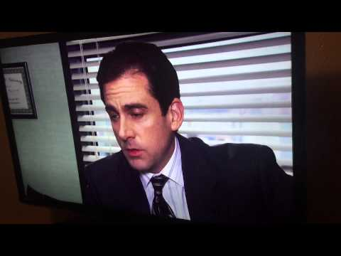Micheal Scott talks to future son.