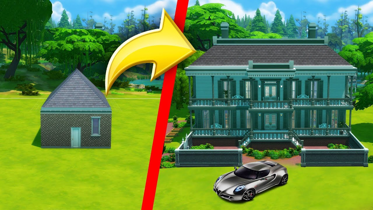 Fixing A $10,000 House To $7,500,000 MANSION! (Sims 4)