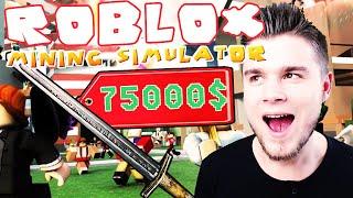ROBLOX [#25] - KUPIŁEM EKSKALIBUR ZA 75 000$! | Mining Simulator [#2]