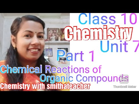 SSLC Chemistry Unit 7-Part1-chemical reactions of organic compounds-Combustion and thermal cracking