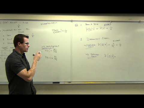 """Statistics Lecture 4.4: The Multiplication Rule for """"And"""" Probabilities."""