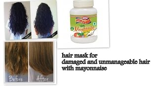 Miracle Hair Mask for Dry, Damaged, Rough Hair and Hair Growth | Hair Care Tips