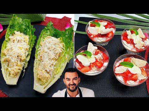 tous-en-cuisine-#59-:-l'incontournable-salade-cÉsar-et-les-etons-mess-aux-fraises-de-cyril-lignac-!