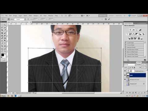 EP.8 ทำรูปติดบัตร : Photoshop