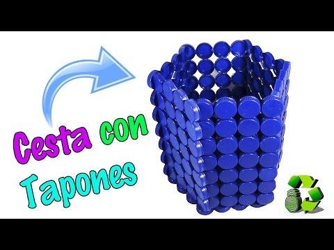 236. Cesta con tapas o tapones de plástico (Reciclaje) Ecobrisa