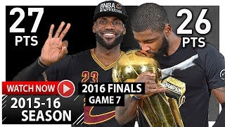 LeBron James & Kyrie Irving INSANE Game 7 Highlights vs Warriors (2016 Finals) - NBA CHAMPIONS!