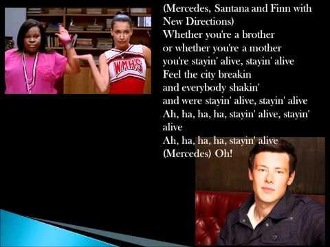 Glee Staying Alive Lyrics