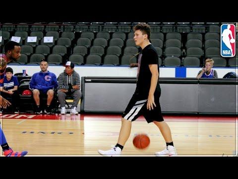 PLAYING BASKETBALL ON AN NBA COURT!