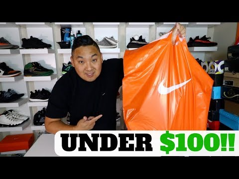 STEAL OF THE YEAR!!? WHAT SNEAKERS CAN $100 BUY YOU FROM THE NIKE OUTLET!!