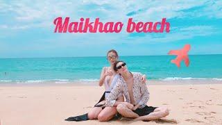 Damisuna  goes to Maikhao beach, Phuket