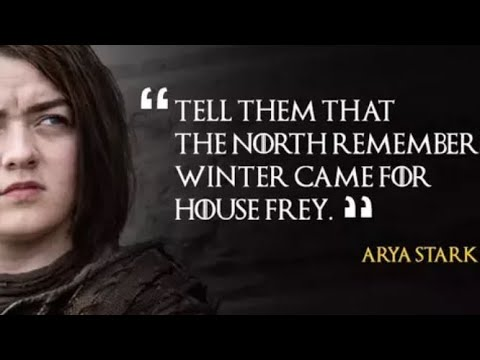 Game Of Thrones Season 1-7 Best Quotes/lines Most Famous Quotes, best  moments