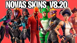 NEW SKINS, LAVA LEGENDS, PICKAXES, GLIDERS and MORE LEAKED UPDATE 8.20-Fortnite