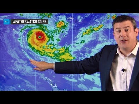 Cyclone Gita to hit NZ around Tuesday – extensive coverage of likely tracking (16/02/18)