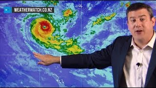 Cyclone Gita to hit NZ around Tuesday - extensive coverage of likely tracking (16/02/18)