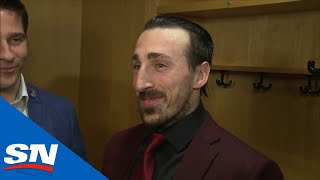 Brad Marchand Post Game Scrum After Eliminating Blue Jackets: 19 Questions, 39 Words