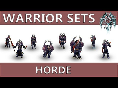 WOW Classic: Warrior Horde All Sets And Animations