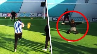 Kevin Phillips' terrific volley & Natalie Pinkham's hilarious knee-slide 😆 | Volleys Challenge