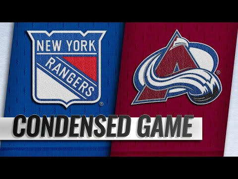 01/04/19 Condensed Game: Rangers @ Avalanche