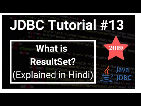 What Is ResultSet In Jdbc ? How To Fetch Data ? | HINDI | JDBC #13