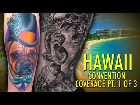 Rockstar Energy Inked Up Tour Tattoo Convention Coverage Hawaii part 1 of 3