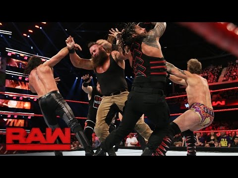 Reigns vs. Rollins vs. Owens vs. Strowman vs. Jericho — Fatal 5-Way Match: Raw, Nov. 7, 2016