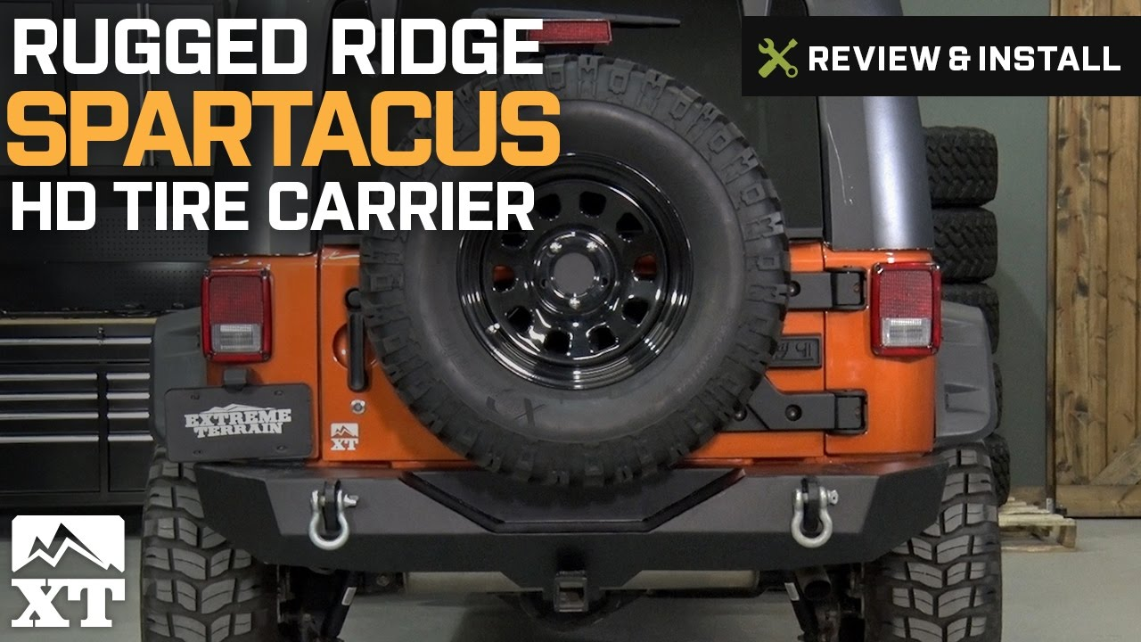 Jeep Wrangler Rugged Ridge Spartacus HD Tire Carrier 2007 2017 JK Review Install