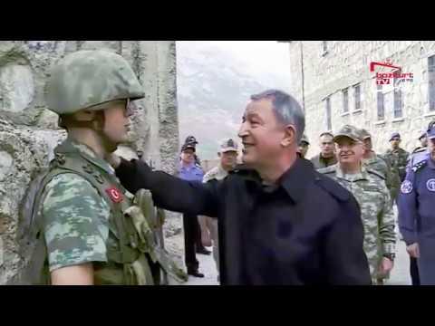 Kahraman Türk Askeri Nöbette-Hulusi Akar Ziyaret