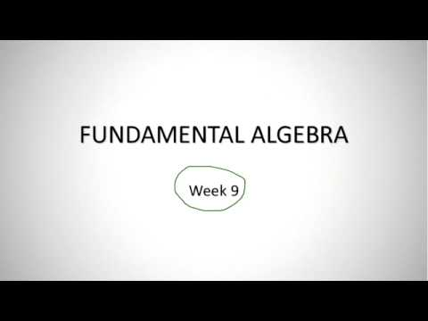 SEU: MATH-001: Fundamentals of Math [week9]
