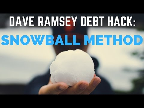 Dave Ramsey snowball method for paying off debt