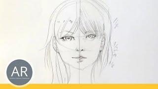 Zeichnen lernen, Akadmie Ruhr, Tutorials, Portrait Zeichnen - Als manga oder realistische Zeichnung
