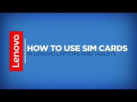How To - Install SIM Cards In Lenovo Laptops And Tablets