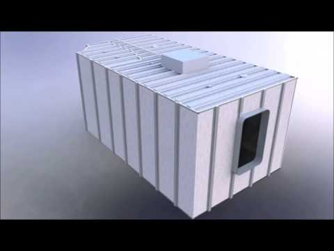 Cabin Module B15 for Marine Industry Accommodation