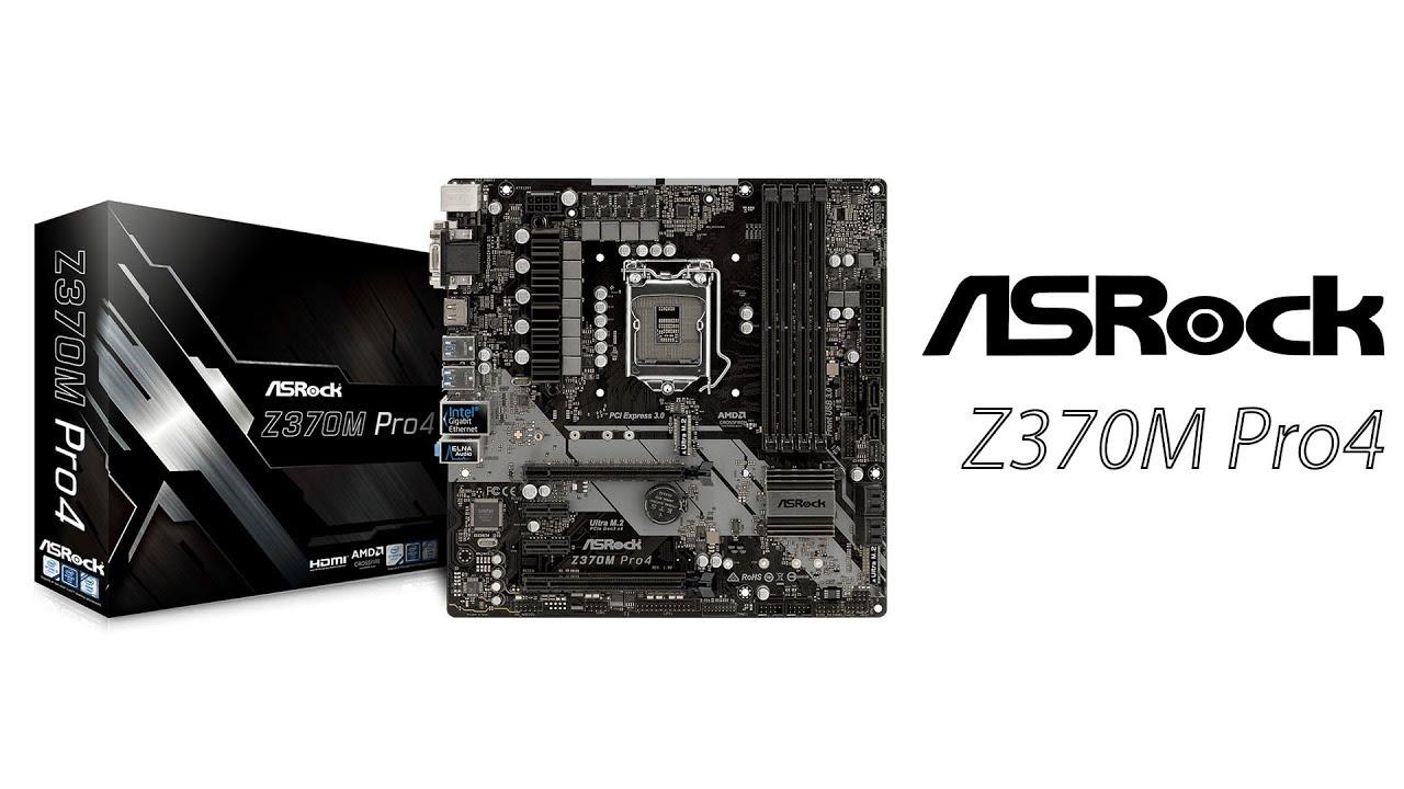 Asrock Z370M Pro4 USB 3.1 8th Gen Motherboard overview | Star Tech