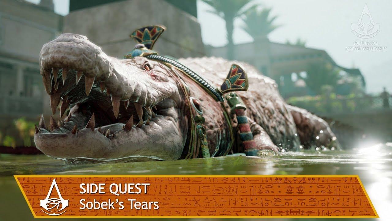 assassins creed origins side quest sobeks tears